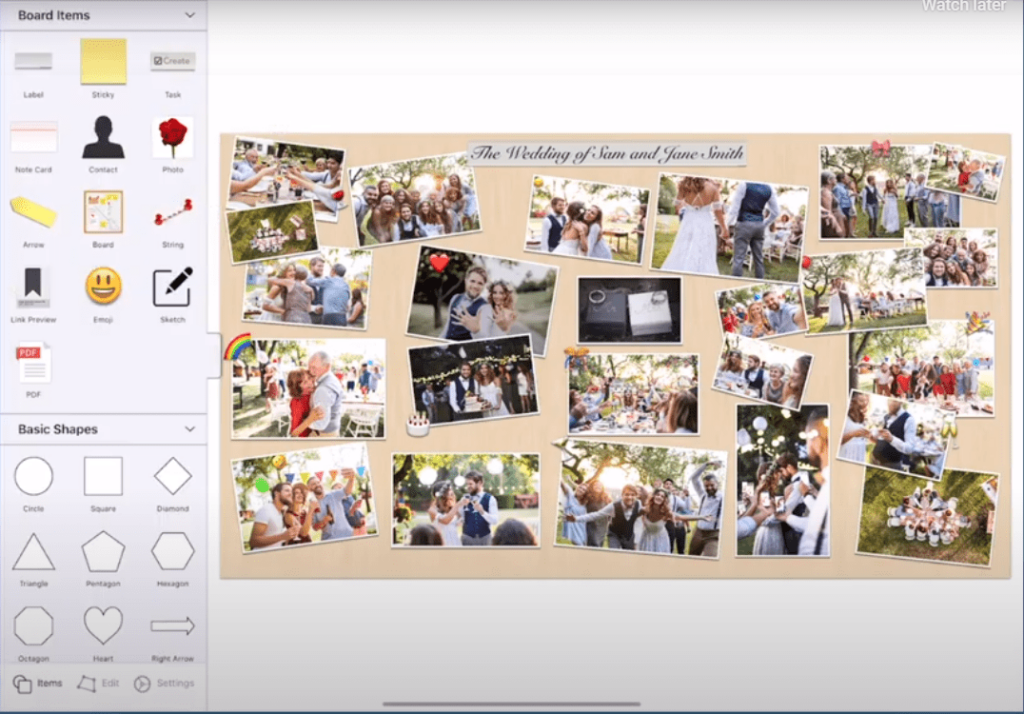 Image of Corkulous Vision Board app for Apple.