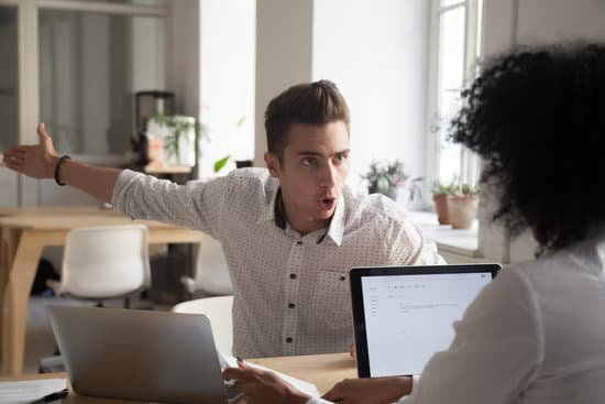 Image of employee yelling at another employee.