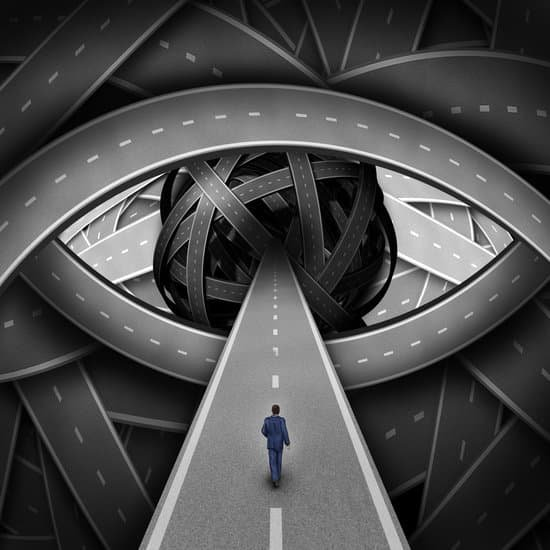 Image of a man walking into an eye representing visionary leadership style