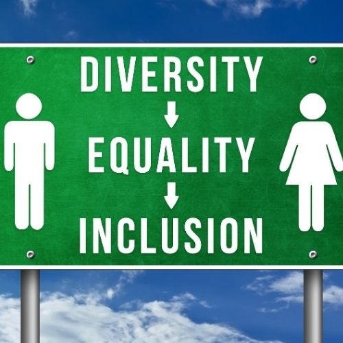 Image of a sign that says diversity equality inclusion.