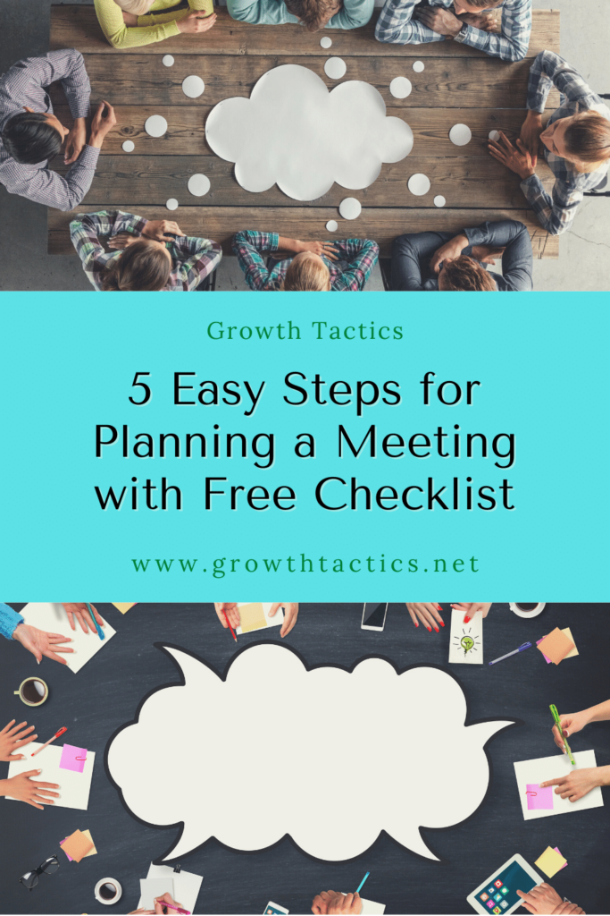 5 Easy Steps for Planning a Meeting with Free Checklist Pinterest image