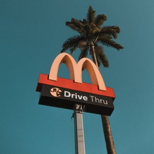 Image of McDonalds sign for vision statement examples.