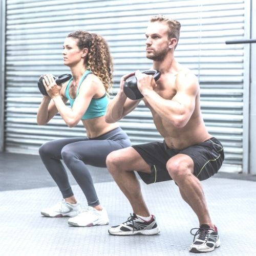 Image of 2 people exercising.