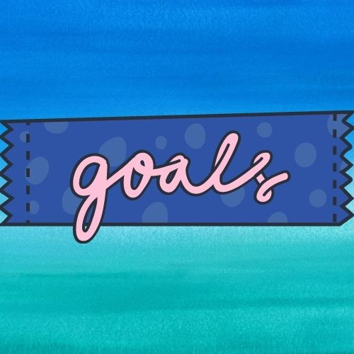 Image of the word goals for the first step in the individual development plan.