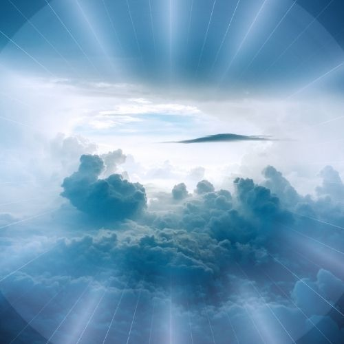 Image of clouds and sky for the vision section.
