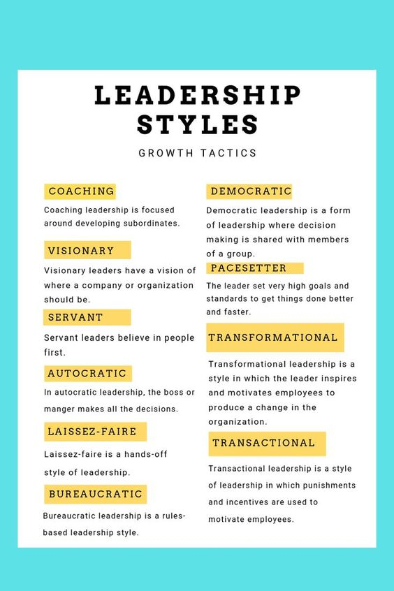 10 Types of Leadership Styles: What's the One for You