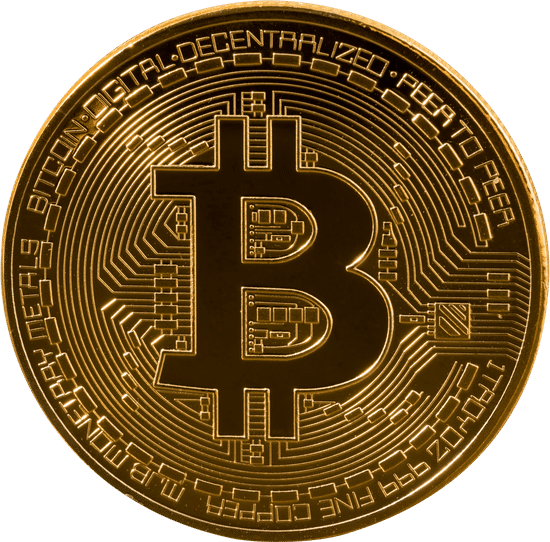 A gold bitcoin representing Transactional Leadership Style
