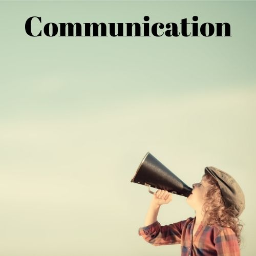 Image of a person on a bull horn for communication.
