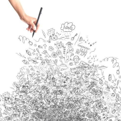 Image of a person doodling.