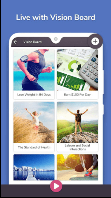 Image of a My Vision Board by Magnetic Labs app for Android.