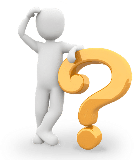 Image of figure standing on a question mark scratching head representing a leader, supervisor, boss, manager not having all the answers.