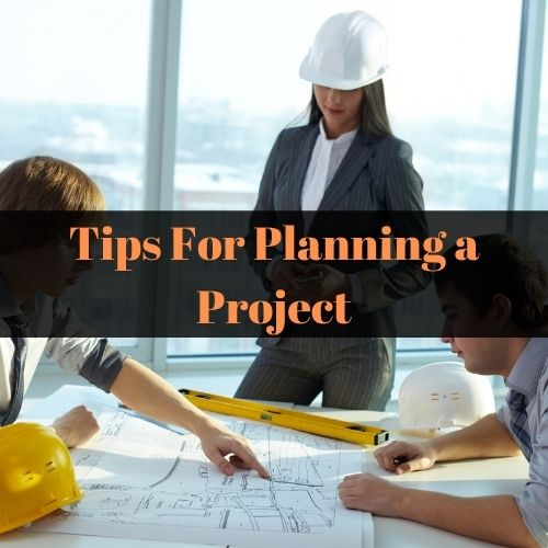 Image of a crew planning a project.