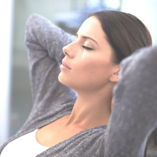 Image of a person taking a moment to think to enhance creativity.