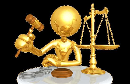 Golden judge representing the structure of Bureaucratic Leadership Style