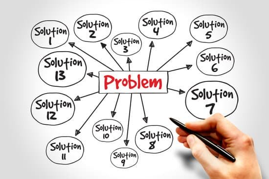 Image of the text problem in the middle with multiple solutions around it. For leadership qualities.