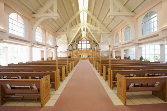 Inside a church representing servant leadership style